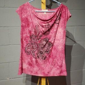 dress barn pink shirt size large